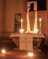 Osternacht Martinskirche Luthergemeinde, Kündiger, (c) frank-uwe kündiger, Dinglinger Passionstafeln, Konfirmandenarbeit