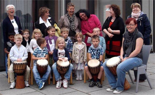Martinskindergarten Trommelgruppe Familiengottesdienst 2015