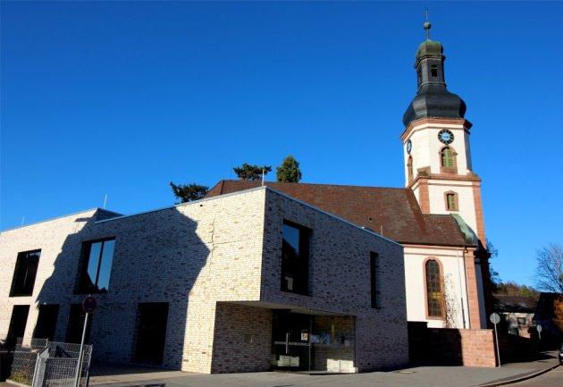 Lahr Dinglingen, Martinskirche, Luthergemeinde, Gemeindehaus an der Martinskirche