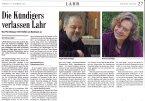 Badische Zeitung vom 10.12.2016: Kündigers verlassen Lahr